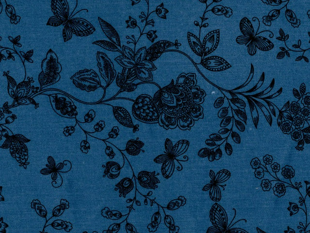 Blue with Butterflies Backing