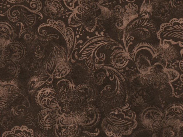 Brown Tonal Floral Backing
