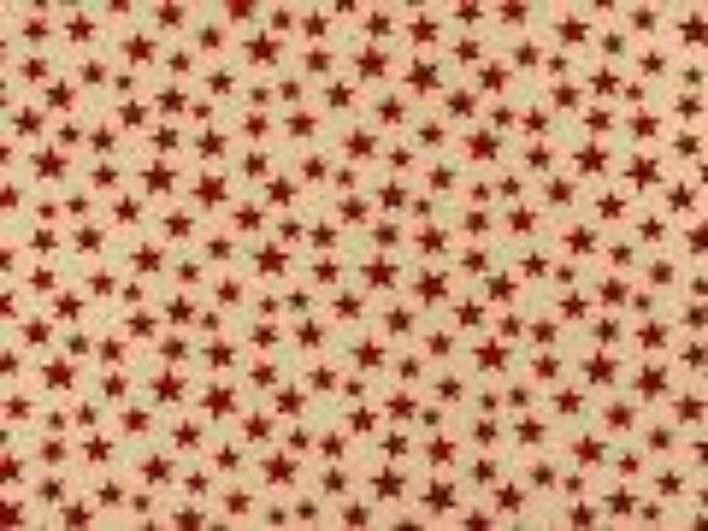 Antique Red Small Stars