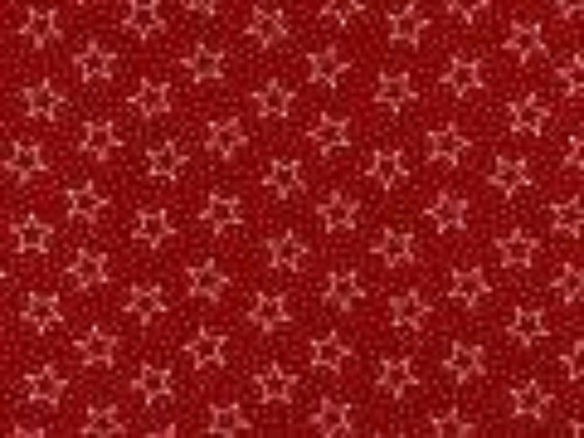 Red Open Stars Backing