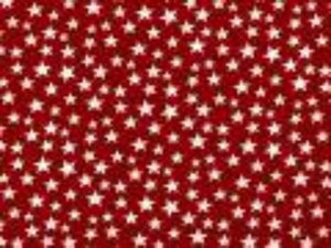 Red with Small White Stars