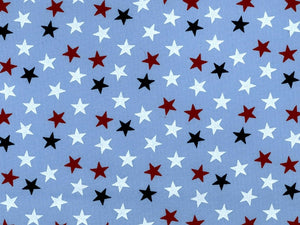 "108"" Red White and Blue Small Star on Blue Backing"