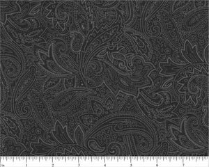 "108"" Charcoal Paisley Backing"