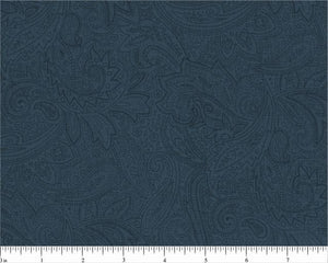 "108"" Confederate Blue Paisley Backing"