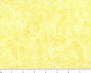 Yellow Subtle Paisley