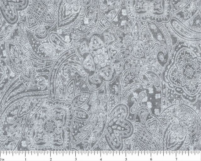Light Gray Paisley