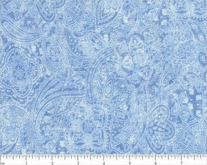"108"" Light Blue Subtle Paisley Backing"