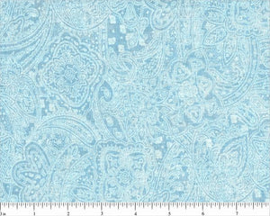 "108"" Light Turquoise Subtle Paisley Backing"