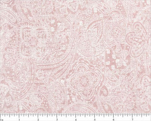 "108"" Pale Pink Subtle Paisley Backing"