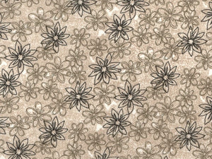Tan Sketched Floral Backing