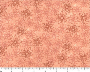 "108"" Salmon Sketched Floral Backing"