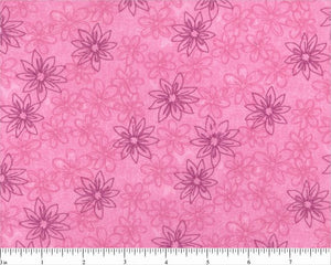 Pink Sketched Floral Backing