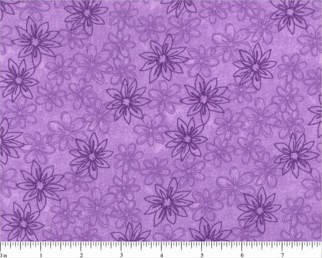 Violet Sketched Floral Backing