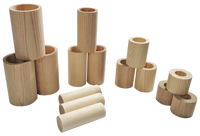 Wood Nesting Tube Set - 15 Pieces
