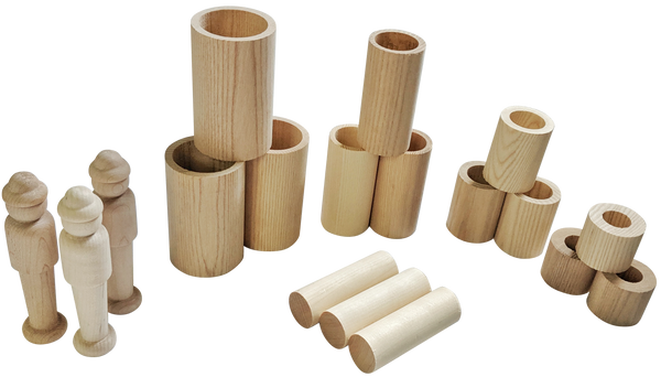 *Limited* Wood Nesting Tube Set - 18 Pieces