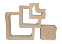 Square puzzle stacker - 6 pieces