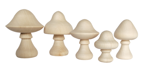 Capped Mushrooms - set of 5