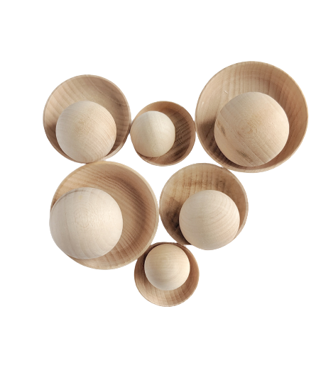 Mini Plates and Balls - 12 pieces
