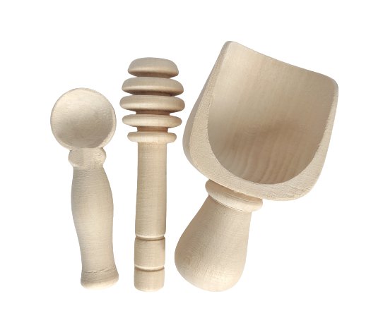 Scoop, honey dipper, spoon - 3 pieces