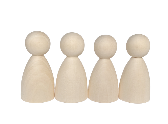 Round Body Peg Dolls - set of 4 (same size)