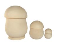 Nesting Mushrooms - set of 3