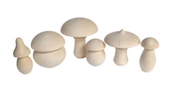 Umbrella Mushrooms - set of 6