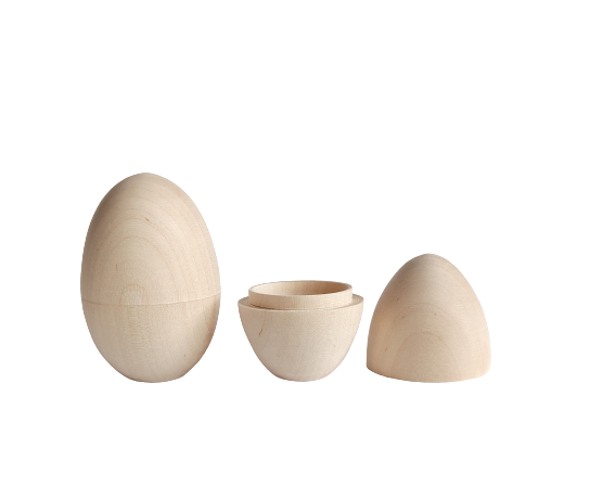 Hollow Eggs (Birch wood) - set of 2