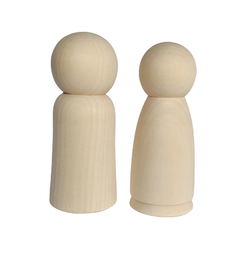 Extra Large Peg Dolls - Set of 2