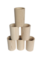 Jumbo Wood Tube - 3.25 inches tall x 2 inches wide
