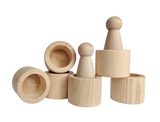 Wood Cups - set of 6