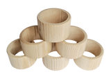 Wood Rings / Small Tubes - set of 6