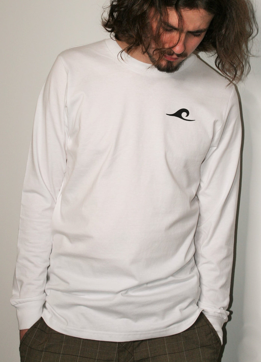 Free as Ocean White Long Sleeve White