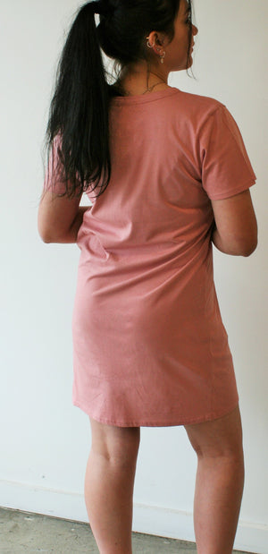 Honey T Shirt Dress - Blush