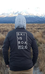 Ski vs Board Long Sleeve Charcoal