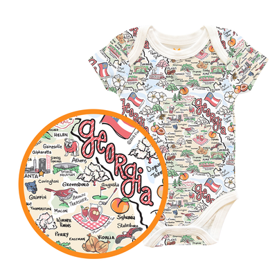 Georgia Map Baby One-Piece - PIMA