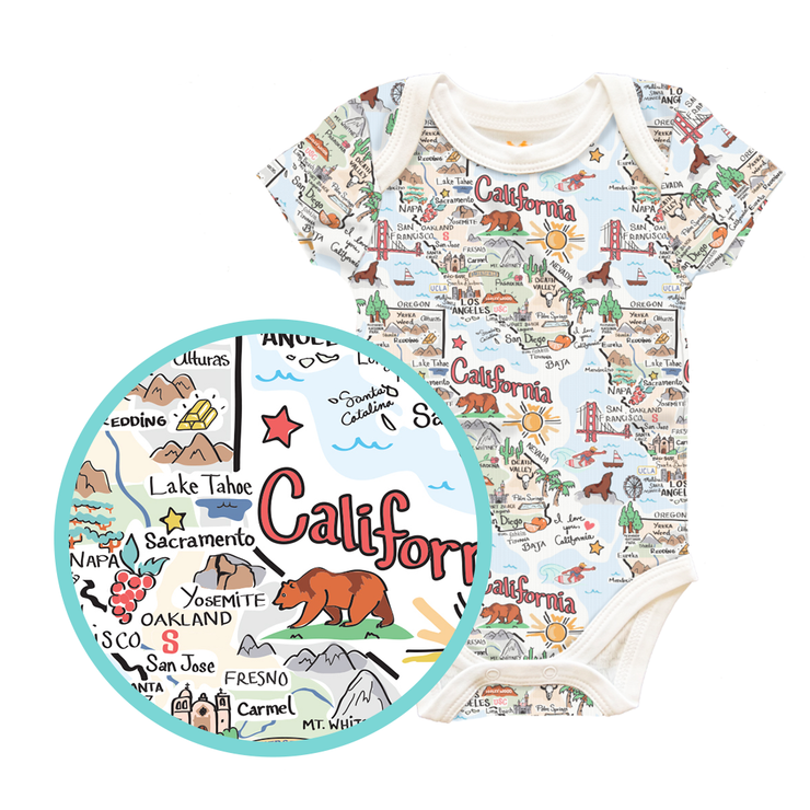 California Map Baby One-Piece - PIMA