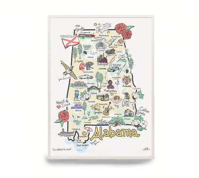 Alabama Map Print