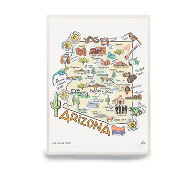 Arizona Map Print