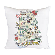 Alabama Map Pillow