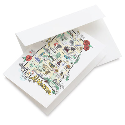 Alabama Map Greeting Card