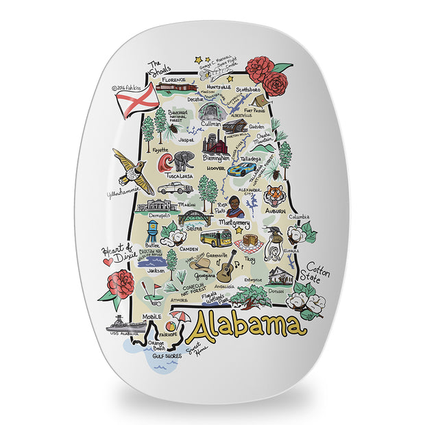 Alabama Map Platter