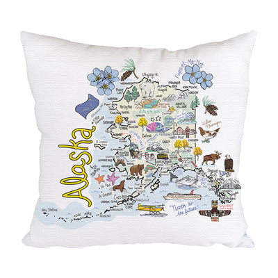 Alaska Map Pillow