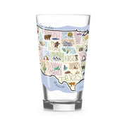 America 16 oz. Glass