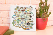 Arizona Square Canvas Art