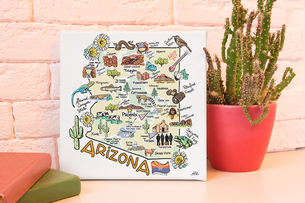 "Arizona 10""x10"" Canvas Art"