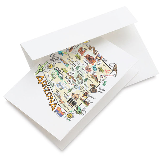 Arizona Map Greeting Card
