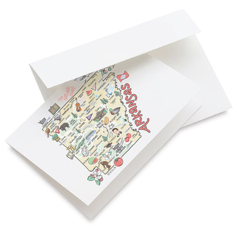 Arkansas Map Greeting Card