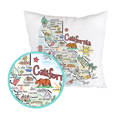 California Map Pillow