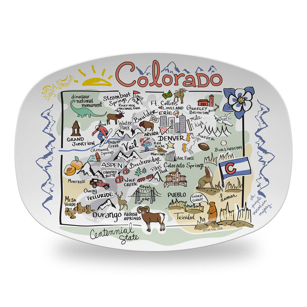 Colorado Map Platter - NEW