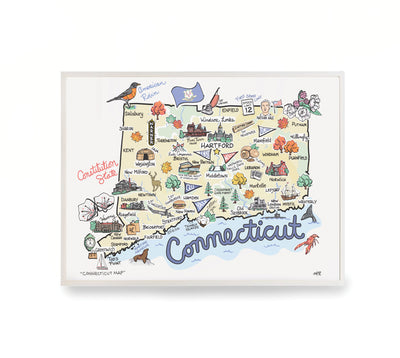 Connecticut Map Print